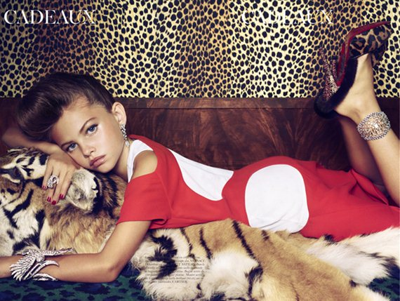 picture of thylane loubry blondeau as seen in French Vogue