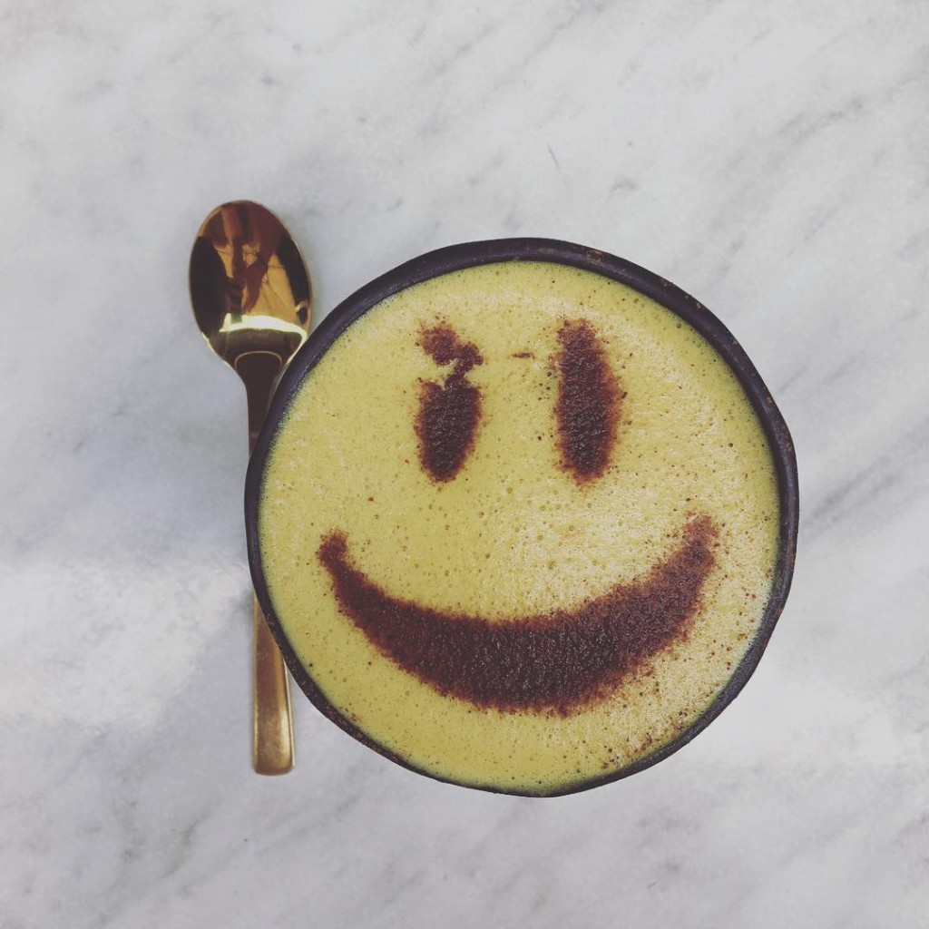 Smile tumeric lattes all the way  serotonindealer