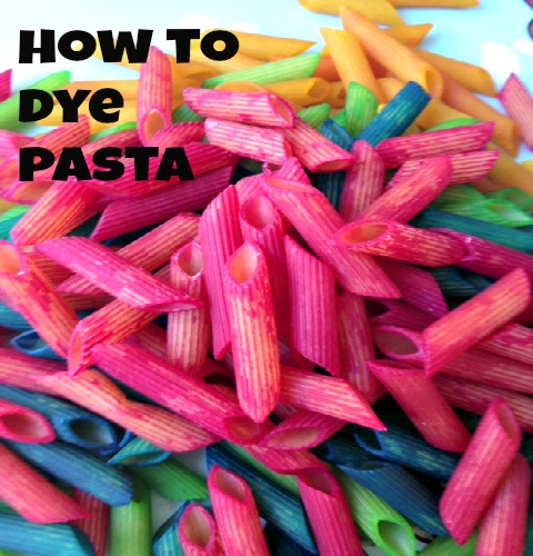 how to dye pasta
