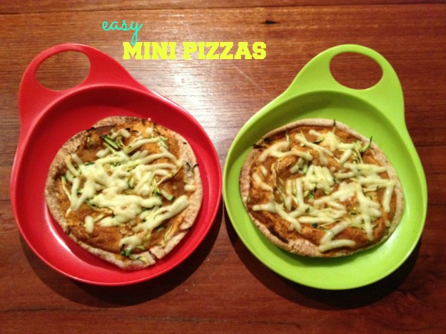 Easy mini pizzas