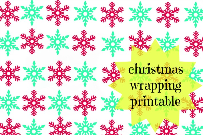 christmas wrapping printable