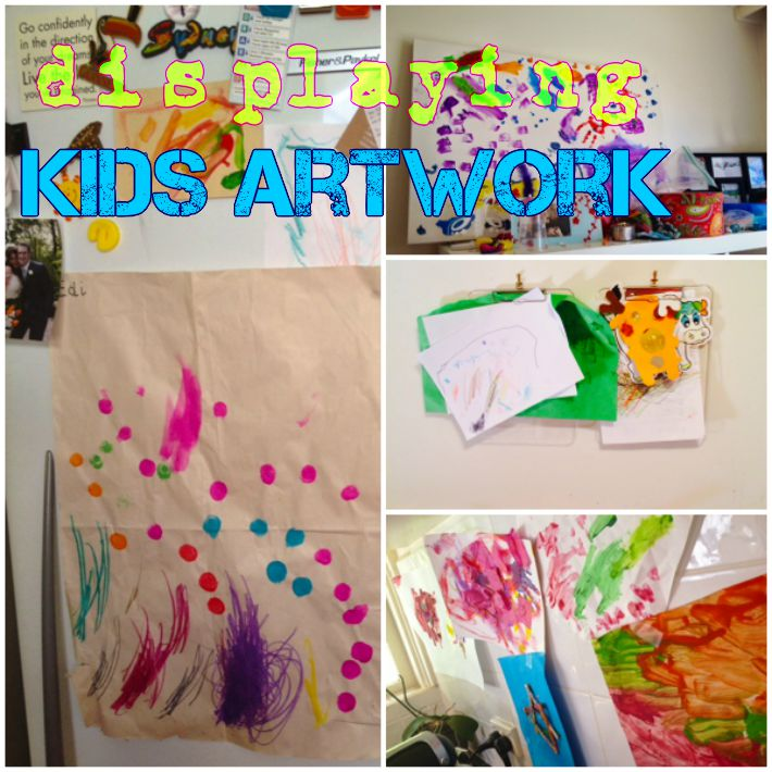 displaying kids artwork