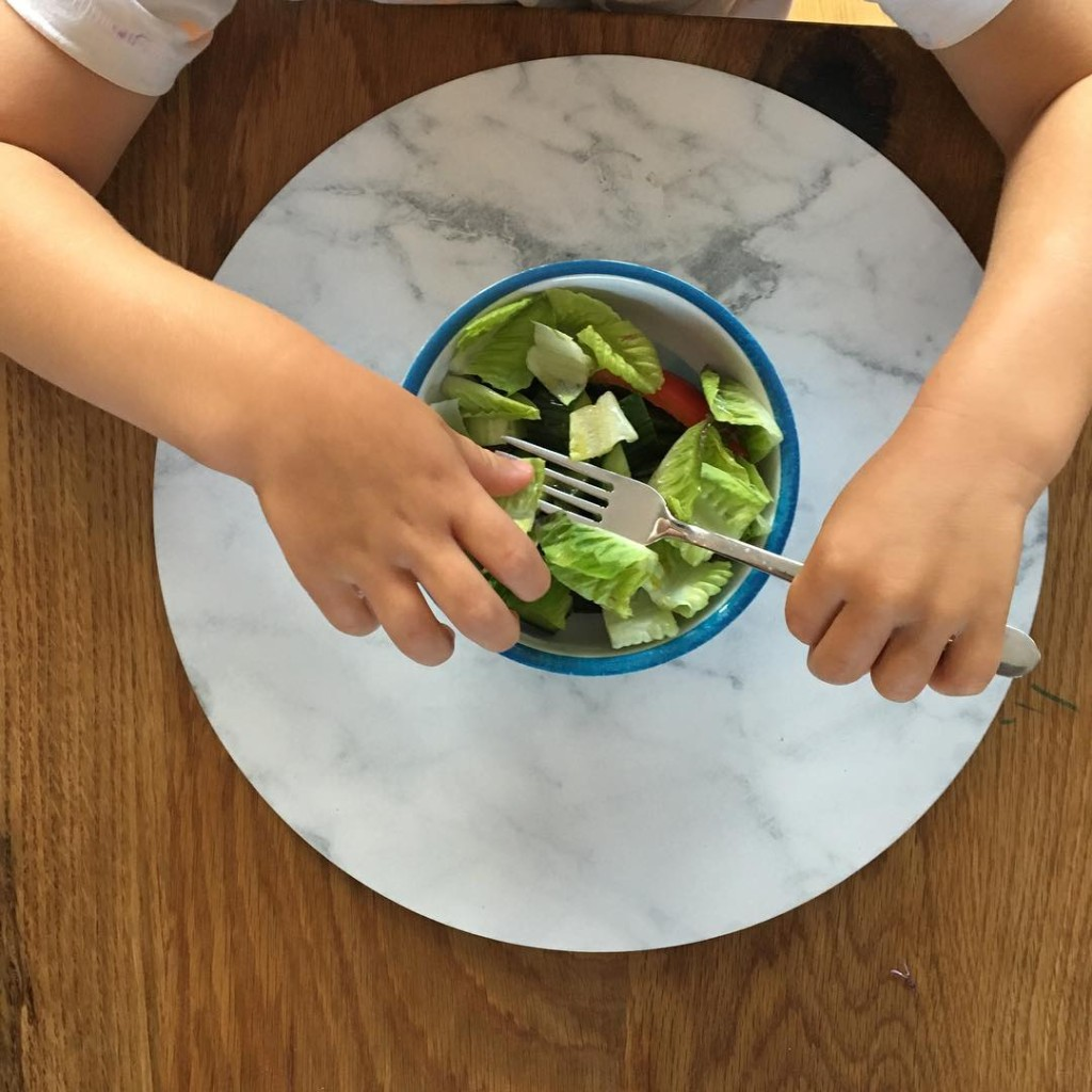 Who said kids dont like salad? The trick is crunchyhellip